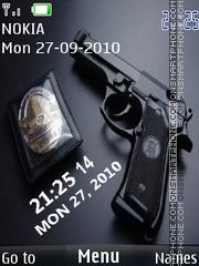 Gun Clock 02 tema screenshot