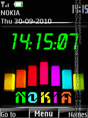 Nokia Clock 02 tema screenshot