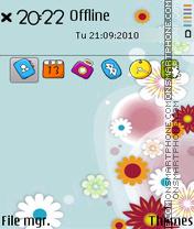 Flower cartoon es el tema de pantalla