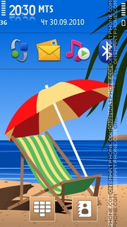 Summertime 2010 theme screenshot