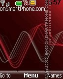 Red sound wave tema screenshot