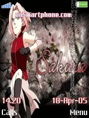 Haruno Sakura [Naruto] tema screenshot