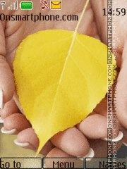 Yellow Leaves theme screenshot