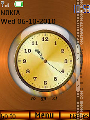 Bronze Clock theme screenshot