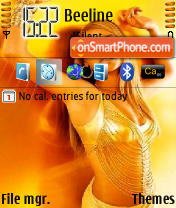 Beyonce n73 theme screenshot