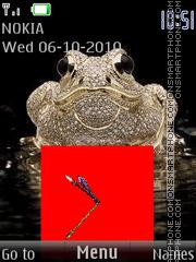 Frog & Clock theme screenshot
