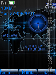 World Dual Clock theme screenshot