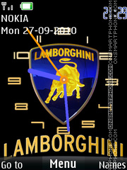 Lamborghini Clock 01 tema screenshot