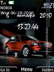 Infiniti FX Clock theme screenshot