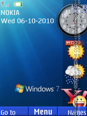 Windows Side Bar theme screenshot