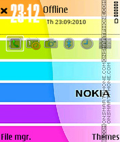 Nokia colour theme screenshot