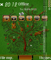 Autumn 2012 es el tema de pantalla