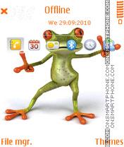 Funny frog 02 theme screenshot
