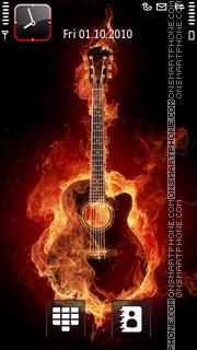 Скриншот темы Fire Guitar