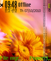 Sun Flower tema screenshot