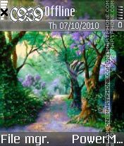 Deep Forest tema screenshot