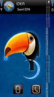 3d Toucan theme screenshot