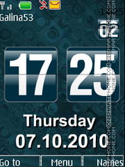 Flip clock $ date theme screenshot