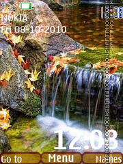 Autumn water tema screenshot