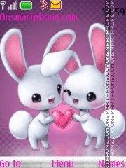 Love Bunny es el tema de pantalla