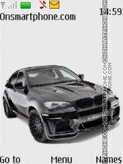Скриншот темы BMW X6 Black