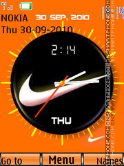 Nike Dual Clock 01 theme screenshot