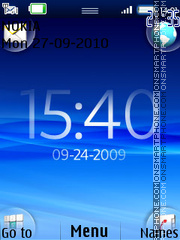 Xperia Clock 01 theme screenshot