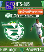 Raja Club Athletic Morocco theme screenshot