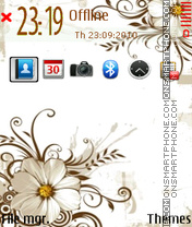 White flower 05 theme screenshot