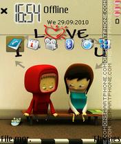 Скриншот темы Love you 13