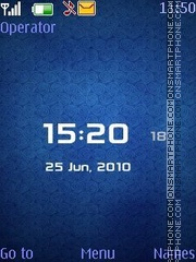 Blue Simple Clock tema screenshot