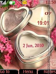 Capture d'écran Candle clock thème