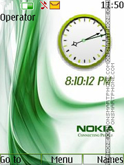 Nokia Dual Clock tema screenshot