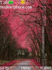 Pink nature theme screenshot