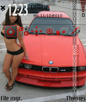 BMW M3 Hot Girl theme screenshot