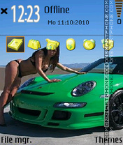GT3 RS and Allison Bradley theme screenshot
