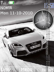 Audi TT Clock theme screenshot