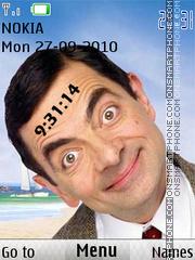 Mr Bean Clock theme screenshot