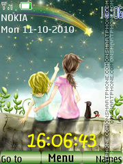 Make a wish Clock theme screenshot