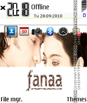 Fanaa 01 theme screenshot