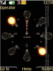 Animated bulb clock theme screenshot