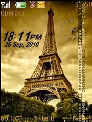 Eiffel dual clock es el tema de pantalla