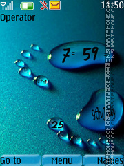 Footprint clock theme screenshot