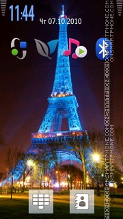 Paris Night 01 theme screenshot