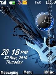Скриншот темы Guitar clock