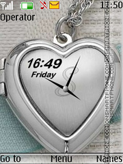 Heart dual clock theme screenshot