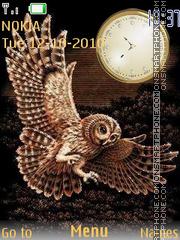 Owl Clock theme screenshot