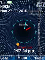 Nokia Infiniti Clock theme screenshot