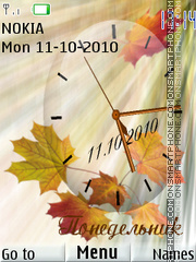 Leaf Clock 01 theme screenshot