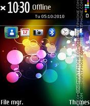 Colourful ovi es el tema de pantalla